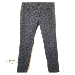 Gap Skinny Printed Jeans (size 8/29)